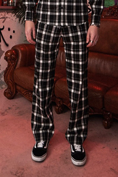 [이동휘 착용]SHETHIS CHECK PANTS