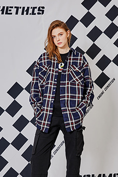 [SALE 50%]STC OVER SHIRTS(NAVY)
