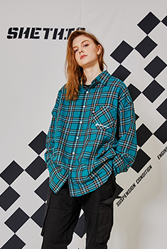 [30000SHOP]LOOSE CHECK SHIRTS