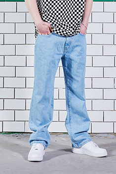 [X-MAS SALE 50%]LIGHT WIDE DENIM PANTS
