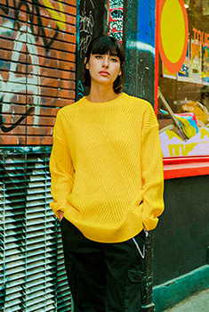 [10000Shop]DIAGONAL LINE KNIT