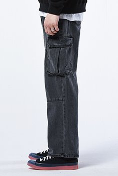 [40000Shop]WASHED CARGO PANTS