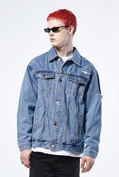 [SALE 50%]PEACE OUT DENIM JK