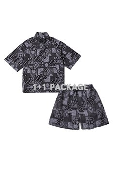 [1+1 EVENT SALE 40%]PAISLEY ANORAK + PAISLEY SHORTS PANTS